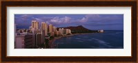 High Angle View Of Buildings On The Beach, Waikiki Beach, Oahu, Honolulu, Hawaii, USA Fine-Art Print