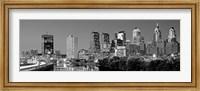 Philadelphia, Pennsylvania Skyline at Night (black and white) Fine-Art Print