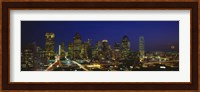 Buildings at Night, Dallas, Texas Fine-Art Print