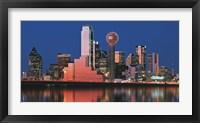 Reflection of skyscrapers in a lake, Digital Composite, Dallas, Texas, USA Fine-Art Print