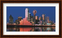 Reflection of skyscrapers in a lake, Digital Composite, Dallas, Texas, USA Fine-Art Print
