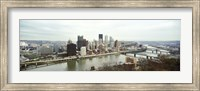 High angle view of a city, Pittsburgh, Allegheny County, Pennsylvania, USA Fine-Art Print