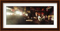 People in a restaurant, Cha Cha Lounge, Coney Island, Brooklyn, New York City, New York State, USA Fine-Art Print