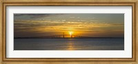 Sunrise over Sunshine Skyway Bridge, Tampa Bay, Florida, USA Fine-Art Print