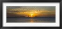 Sunrise over Sunshine Skyway Bridge, Tampa Bay, Florida, USA Fine-Art Print