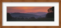 Fog over hills, Caledonia County, Vermont, New England, USA Fine-Art Print