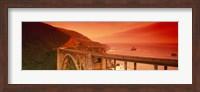 High angle view of an arch bridge, Bixby Bridge, Big Sur, California, USA Fine-Art Print