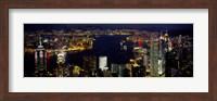 Buildings Illuminated At Night, Hong Kong Fine-Art Print