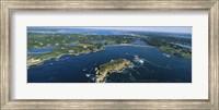 Aerial view of an island, Newport, Rhode Island, USA Fine-Art Print