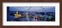 Ferris wheel in a city, Millennium Wheel, London, England Fine-Art Print