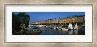 Boats In A River, Stockholm, Sweden Fine-Art Print