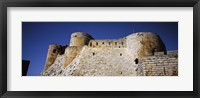 Low angle view of a castle, Crac Des Chevaliers Fortress, Crac Des Chevaliers, Syria Fine-Art Print