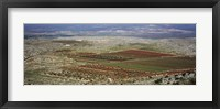 Panoramic view of a landscape, Aleppo, Syria Fine-Art Print