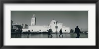 Cars parked in front of a mosque, Jamaa-El-Jedid, Algiers, Algeria Fine-Art Print