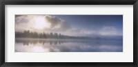 Panoramic view of a river at dawn, Vuoski River, Imatra, Finland Fine-Art Print