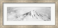 Aerial view of a snowcapped mountain, Mt Rainier, Mt Rainier National Park, Washington State, USA Fine-Art Print