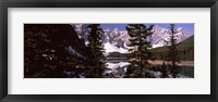 Lake andf mountains, Alberta, Canada Fine-Art Print