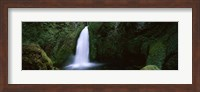 Cascading waterfall in the Columbia River Gorge, Oregon, USA Fine-Art Print