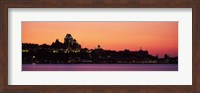 City at dusk, Chateau Frontenac Hotel, Quebec City, Quebec, Canada Fine-Art Print