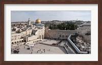 Tourists praying at the Wailing Wall in Jerusalem, Israel Fine-Art Print
