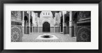 Interiors of a medersa, Medersa Bou Inania, Fez, Morocco (black and white) Fine-Art Print