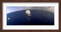 Bird's Eye View of Tall ship in the sea, Puerto Rico Fine-Art Print