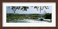 Looking over the top of the Victoria Falls towards the Victoria Falls bridge, Zambia Fine-Art Print