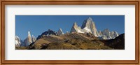 Low angle view of mountains, Mt Fitzroy, Cerro Torre, Argentine Glaciers National Park, Patagonia, Argentina Fine-Art Print