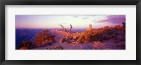 Rock formations with a river, Desert View Watchtower, Desert Point, Grand Canyon National Park, Arizona Fine-Art Print