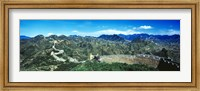 Fortified wall on a mountain, Great Wall Of China, Beijing, China Fine-Art Print