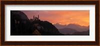 Neuschwanstein Palace at dusk, Bavaria Germany Fine-Art Print