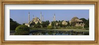 Garden in front of a mosque, Blue Mosque, Istanbul, Turkey Fine-Art Print