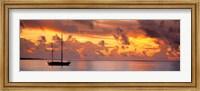 Boat at sunset Fine-Art Print