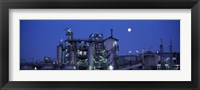 Low angle view of an oil refinery, Hamburg, Germany Fine-Art Print