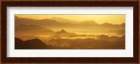 Mountains with valley at sunset, Takachiho-Kyo, Miyazaki Prefecture, Kyushu, Japan Fine-Art Print