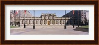Facade of a palace, Plaza De La Moneda, Santiago, Chile Fine-Art Print