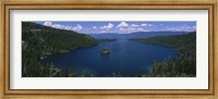 High angle view of a lake, Lake Tahoe, California, USA Fine-Art Print