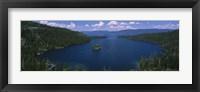 High angle view of a lake, Lake Tahoe, California, USA Fine-Art Print