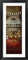 Interiors of a mosque, Suleymanie Mosque, Istanbul, Turkey Fine-Art Print