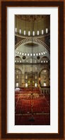 Interiors of a mosque, Suleymanie Mosque, Istanbul, Turkey Fine-Art Print