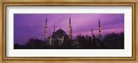 Blue Mosque with Purple Sky, Istanbul, Turkey Fine-Art Print
