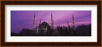 Blue Mosque with Purple Sky, Istanbul, Turkey Fine-Art Print
