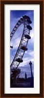 Low angle view of the London Eye, Big Ben, London, England Fine-Art Print