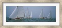 Sailboats at regatta, Newport, Rhode Island, USA Fine-Art Print