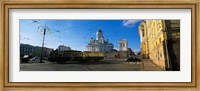 Tram Moving On A Road, Senate Square, Helsinki, Finland Fine-Art Print