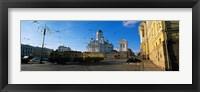 Tram Moving On A Road, Senate Square, Helsinki, Finland Fine-Art Print
