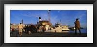 Tourboat Moored At A Dock, Helsinki, Finland Fine-Art Print