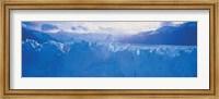 Glacier in a national park, Moreno Glacier, Los Glaciares National Park, Patagonia, Argentina Fine-Art Print