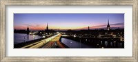High angle view of traffic on a highway, Stockholm, Sweden Fine-Art Print