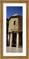 Two people sitting in a mosque, Umayyad Mosque, Damascus, Syria Fine-Art Print